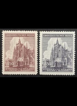 Vokietijos Reichas, Čekijos okupacija, pilna serija, MiNr 140-141 MH*