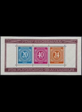 Pokario Vokietija, Sąjungininkų zona, blokas 12A, MiNr 924-925, 929 (A) MLH*