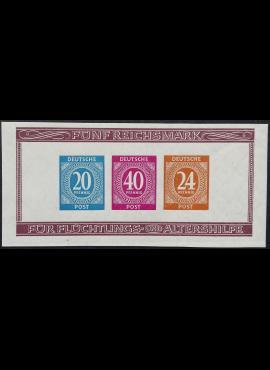Pokario Vokietija, Sąjungininkų zona, blokas 12B, MiNr 924-925, 929 (B) MLH*