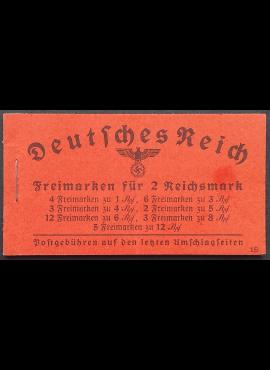 Vokietijos Reichas, kišeninė knygelė Nr 39.5, pilnas komplektas MiNr 512-517, 519 MNH**
