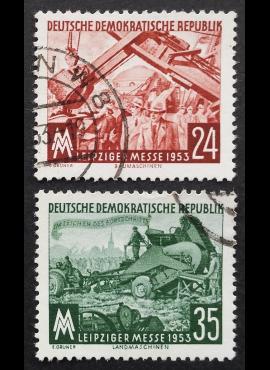 Vokietijos Demokratinė Respublika VDR, pilna serija MiNr 380-381 Used (O)