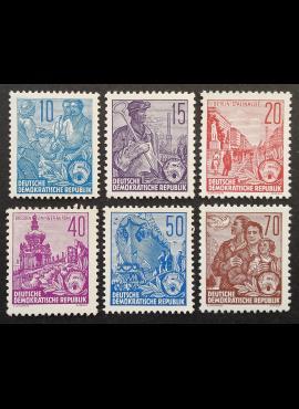 Vokietijos Demokratinė Respublika (VDR), pilna serija MiNr 453-458 MNH**