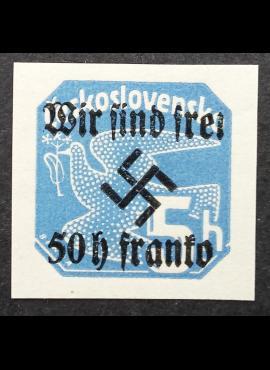 Vokietijos Reichas, Sudetų žemės, Rumburgas MiNr 25 MNH**