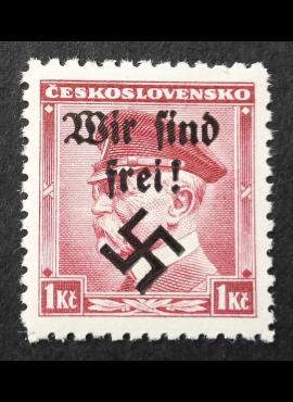 Vokietijos Reichas, Sudetų žemės, Rumburgas MiNr 9 MNH**