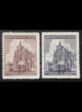 Vokietijos Reichas, Čekijos okupacija, pilna serija, MiNr 140-141 MNG (*)