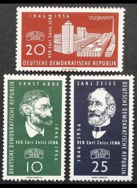 Vokietijos Demokratinė Respublika (VDR), pilna serija MiNr 545-547 MLH*
