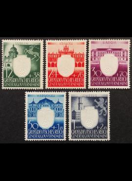 Vokietijos Reichas, Lenkijos okupacija, pilna serija, MiNr 105-109 MNH**