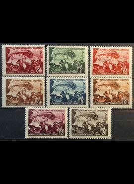 Albanija, pilna serija MiNr 448-455 MH*