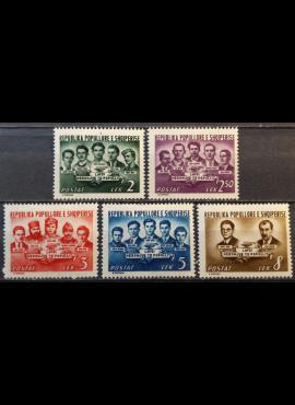Albanija, pilna serija MiNr 495-499 MH*