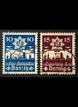 Laisvasis miestas Danzigas, pilna serija MiNr 267-268 Used (O)