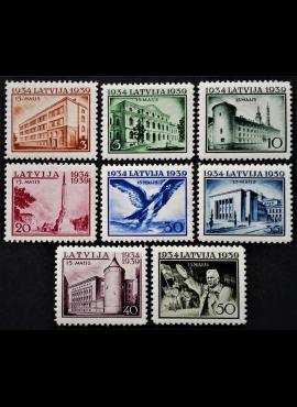 Latvija, pilna serija, MiNr 271-278 MLH*