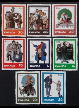 Ruanda, pilna serija, ScNr 1027-1034 MNH**