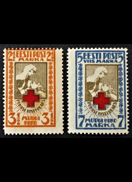 Estija, pilna serija, MiNr 29-30 (A) MLH*