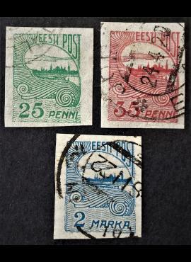 Estija, pilna serija, MiNr 15-17 Used (O)