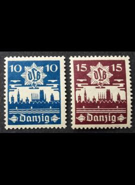 Laisvasis miestas Danzigas, pilna serija, MiNr 267-268 MH*