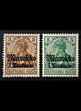 Vokietijos Reichas, Užsienio ir kolonijų paštas, Marokas MiNr 46-47 MH*