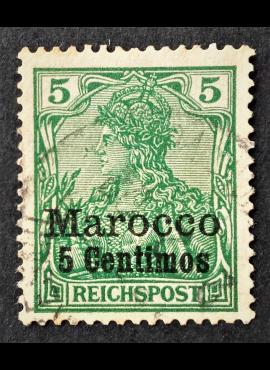 Vokietijos Reichas, Užsienio ir kolonijų paštas, Marokas MiNr 8 Used (O)