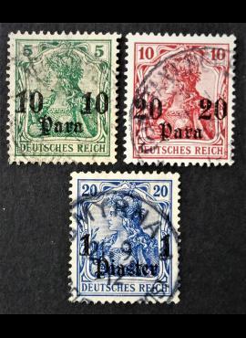 Vokietijos Reichas, Užsienio ir kolonijų paštas, Turkija MiNr 36-38 Used (O)