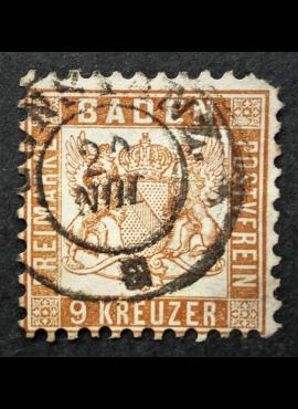 Senoji Vokietija, Badenas, MiNr 20c Used (O)