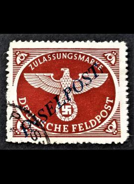 Vokietijos Reichas, oro paštas, MiNr 10 BbII Used (O)