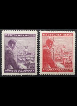 Vokietijos Reichas, Čekijos okupacija, pilna serija, MiNr 126-127 MNH**