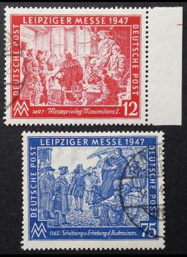 Pokario Vokietija, Sąjungininkų zona, pilna serija, MiNr 965-966 Used (O)