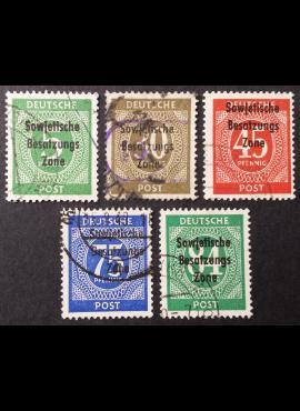 Pokario Vokietija, Sovietų zona, pilna serija, MiNr 207-211 Used (O)