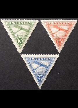 Latvija, oro paštas, pilna serija, MiNr 177-179 MH*