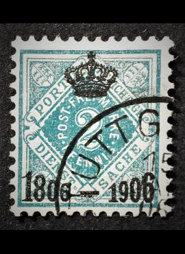 Senoji Vokietija, Viurtembergas, tarnybinis, MiNr 107 Used (O)