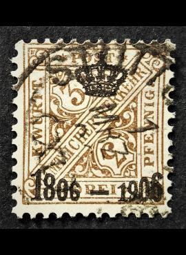 Senoji Vokietija, Viurtembergas, tarnybinis, MiNr 218 Used (O)