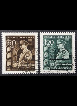 Vokietijos Reichas, Čekijos okupacija, pilna serija, MiNr 136-137 Used (O)