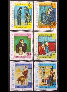 Laosas, pilna serija, MiNr 1162-1167 Used (O)