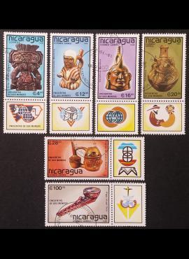 Nikaragva, pilna serija MiNr 2917-2922 Used (O)