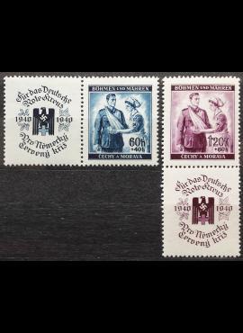 Vokietijos Reichas, Čekijos okupacija, pilna serija, MiNr 53-54 MNH**