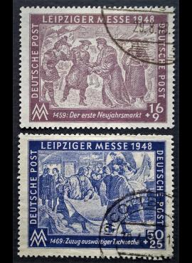 Pokario Vokietija, Sovietų zona, pilna serija MiNr 198-199 Used (O)
