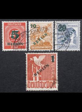 Vokietija, Vakarų Berlynas, pilna serija MiNr 64-67 Used (O)