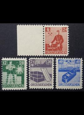 Vokietijos lokalus paštas, Grosrešenas, pilna serija, MiNr 43-46 (A) MLH*