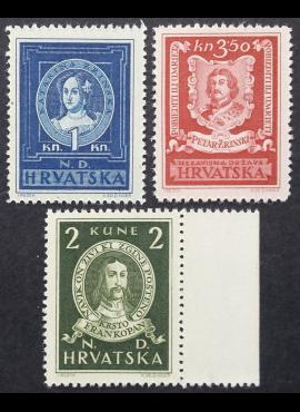 Kroatija, pilna serija, MiNr 103-105 MNH**