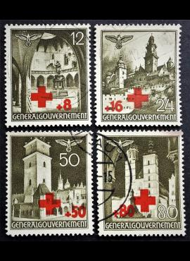 Vokietijos Reichas, Lenkijos okupacija, pilna serija, MiNr 52-55 Used (O)