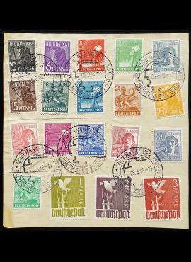 Pokario Vokietija, Sąjungininkų zona, MiNr 943-961 Used (O)