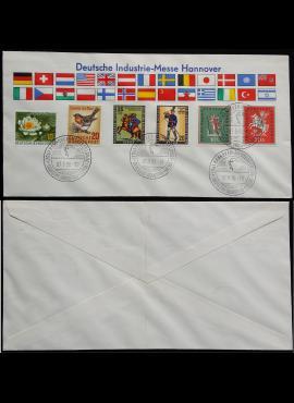 Vokietija, pirmos dienos vokas su Vakarų Berlyno+VFR ženklais MiNr 158, 176+274-275, 286-287