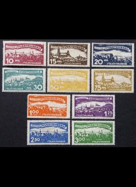 Senoji Vokietija, Viurtembergas, tarnybiniai, pilna serija, MiNr 272-281 MH*