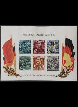 Vokietijos Demokratinė Respublika (VDR), blokas Nr. 13 MiNr 485-490 (B) MNH**