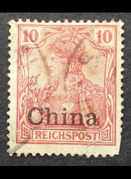 Vokietijos Reichas, Užsienio ir kolonijų paštas, Kinija, MiNr 17 Used (O)