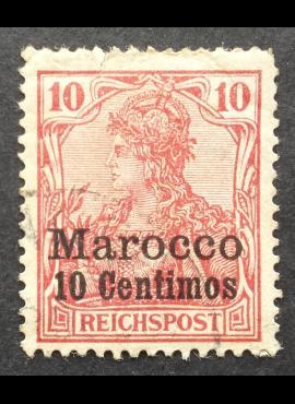 Vokietijos Reichas, Užsienio ir kolonijų paštas, Marokas, MiNr 9 Used (O)