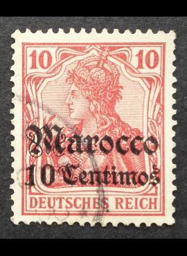 Vokietijos Reichas, Užsienio ir kolonijų paštas, Marokas, MiNr 23 Used (O)
