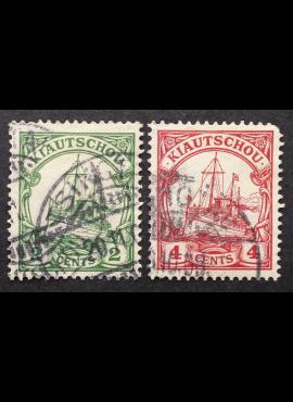 Vokietijos Reichas, Užsienio ir kolonijų paštas, Kiautšau, MiNr 19-20 Used (O)