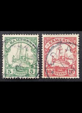 Vokietijos Reichas, Užsienio ir kolonijų paštas, Kamerūnas, MiNr 8-9 Used (O)