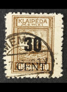 Klaipėda (Memel), MiNr 194 Used (O)