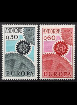 Andora (prancūzų), pilna serija, MiNr 199-200 MNH**